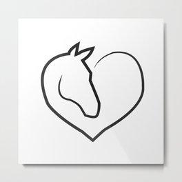 horse horse horse love animal love gift rider equestrian sport Metal Print