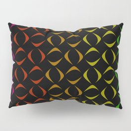 Pattern of multi-colored rhombuses and triangles. Pillow Sham