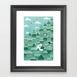 Tree Hugger (Spring & Summer version) Framed Art Print