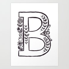B is for Art Print