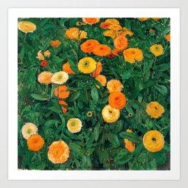 Marigolds by Koloman Moser, 1909 Kunstdrucke