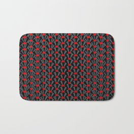Covered in Vinyl / Vinyl records arranged in scale pattern Bath Mat