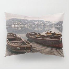 Rowing Boats At The Lake Bled Pillow Sham
