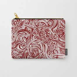 Red Swirl Design Carry-All Pouch