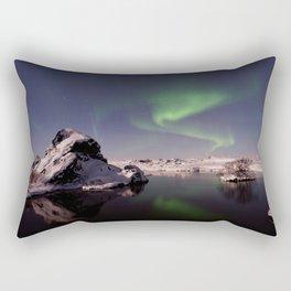 Northern Lights or Aurora Borealis - Alaska Rectangular Pillow