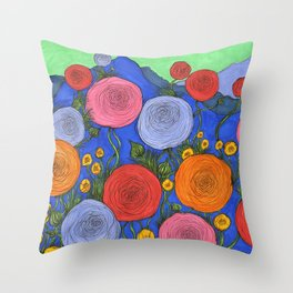 Colors in the Blue Ridge Mountains Throw Pillow
