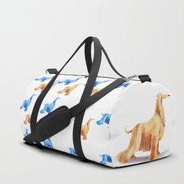 Afghan hound Duffle Bag