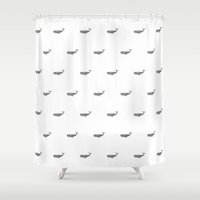 whales Shower Curtains featuring WHALES by Thiago Bianchini