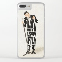 Typography Art of Frank Sinatra Clear iPhone Case