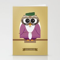 dumbledore Stationery Cards featuring Owlbus Dumbledore by Famous Owls