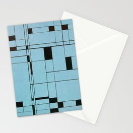 All About Mondrian (ice blue) Stationery Cards
