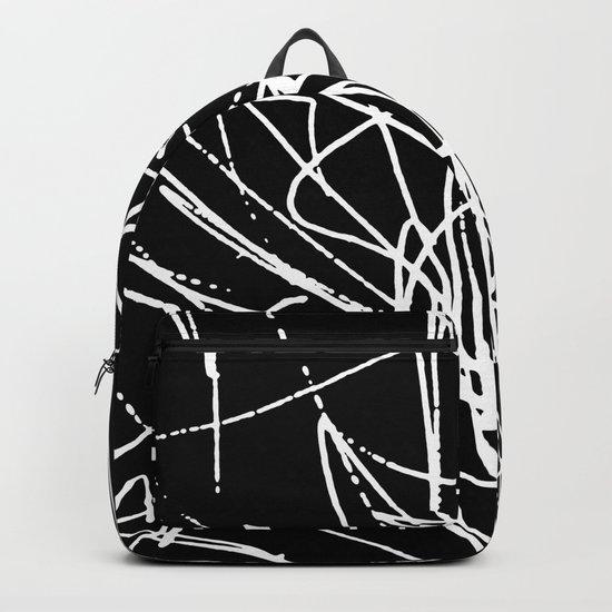 Daisy Scribble Black Backpack