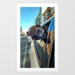 Cruisin the strip Art Print