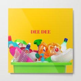 plastic DEE DEE Metal Print
