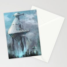 Mother ship extraction Stationery Cards