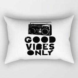 Good Vibes Only Boombox Rectangular Pillow