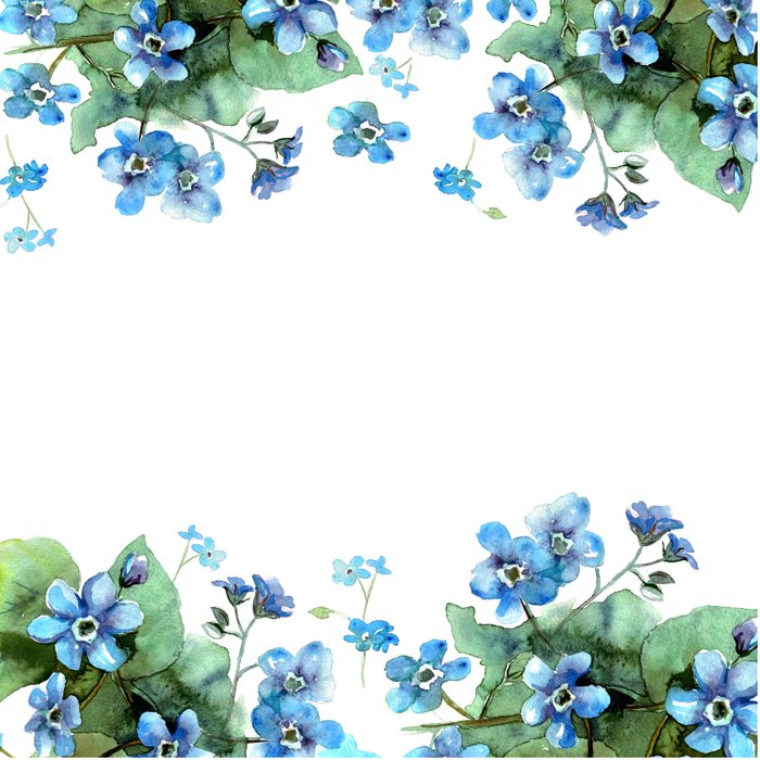 Watercolor forget me nots Comforters