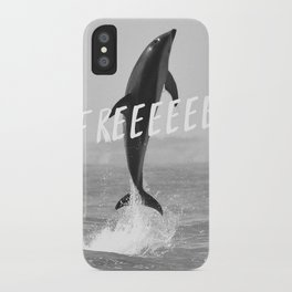 Free like a dolphin iPhone Case