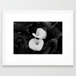 A bug on a lily Framed Art Print