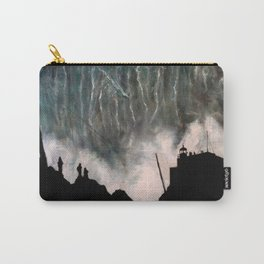 Monsters of Nazare (oil on canvas) Carry-All Pouch