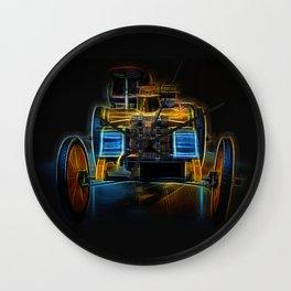 Fractal Car Neon Light Wall Clock