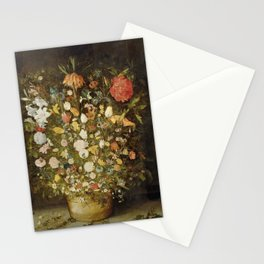 Jan Brueghel (I) (atelier) - Still life with flowers (1600-1630) Stationery Cards