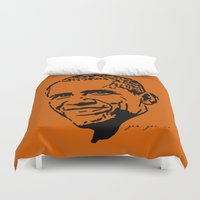 obama Duvet Covers featuring Obama by Cushy Diplomacy