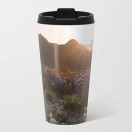 Three Sisters Sunset Photography Print Travel Mug
