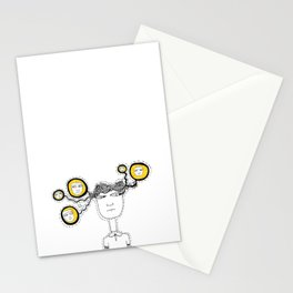 Too many people in one head Stationery Cards