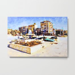 Square of Aleppo with fountain Metal Print