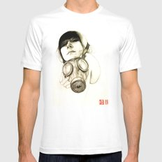 MASK White MEDIUM Mens Fitted Tee