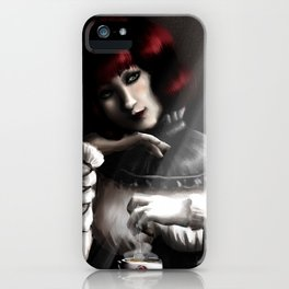 Gothic Maiden Portrait iPhone Case