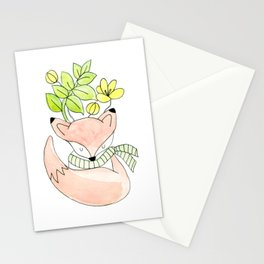 Fox & Flowers Stationery Cards