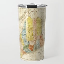 Map of the State of Maine (1843) Travel Mug