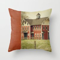 american beauty Throw Pillows featuring Americana by Farmhouse Chic