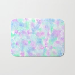 Abstract Purple Floral Watercolor Pattern Bath Mat