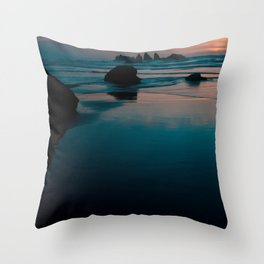 bandon beach blues. Throw Pillow