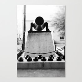 Staring down the barrel... Canvas Print