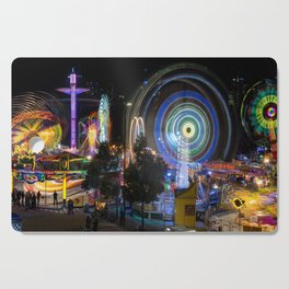 Fairground Attraction panorama Cutting Board