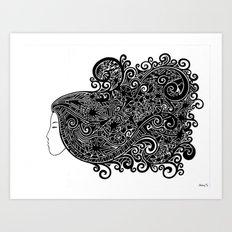 Nyanna by Nolenz Volenz Art Print