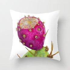 Prickly Pear Cactus Fruit Throw Pillow