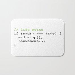 Life Motto Bath Mat