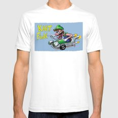 Kart Fink Lil Bro! Mens Fitted Tee White SMALL