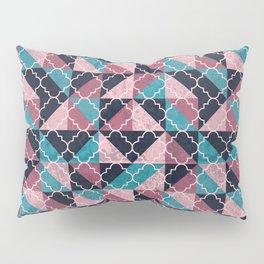Arabesque Mosaic - pink and blue Pillow Sham