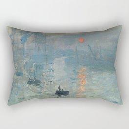 Claude Monet – Impression soleil levant – impression sunrise Rectangular Pillow