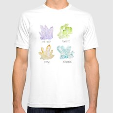 Rock collector Mens Fitted Tee MEDIUM White