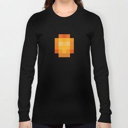 hero pixel red yellow Long Sleeve T-shirt