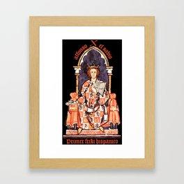 Alfonso X, primer friki hispánico Framed Art Print