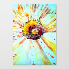 Sunflower-abstract-decorative Canvas Print