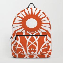 Orange flower mandala Backpack